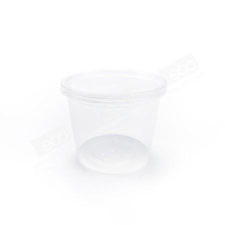 กล่องอาหารกลม PP ใส (AS311) ขนาด 650 ml.+ฝา PLU9311(@25R500) (25 PCS/PACK)