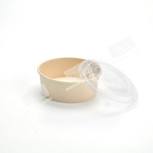 ถ้วยกลมสีเยื่อไผ่ 750ml +ฝาพลาสติก