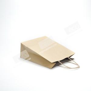 ถุงกระดาษคราฟท์ หูหิ้ว M ทรงเตี้ย