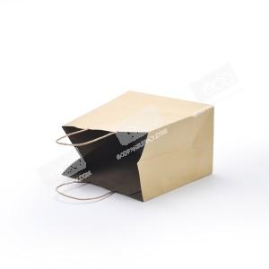 ถุงกระดาษคราฟท์ หูหิ้ว M ก้นกว้าง
