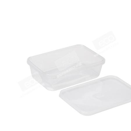 กล่องเซฟตี้ซีลเหลี่ยม PP ใส 650 ml (25 PCS/PACK)