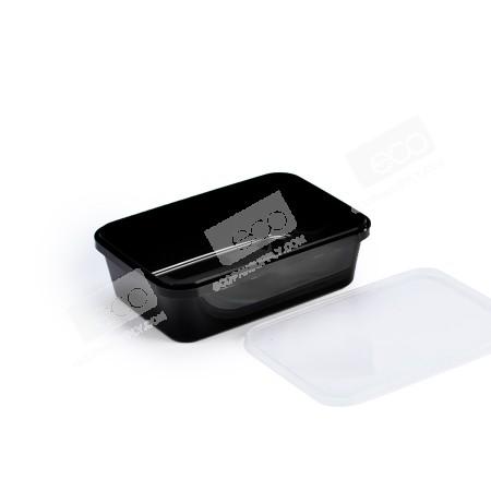 กล่องเซฟตี้ซีลเหลี่ยม PP ดำ 650 ml (25 PCS/PACK)