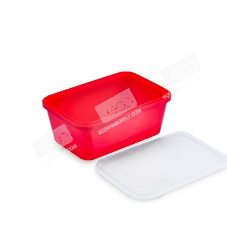 กล่องเซฟตี้ซีลเหลี่ยม PP แดง 1000 ml (25 PCS/PACK)